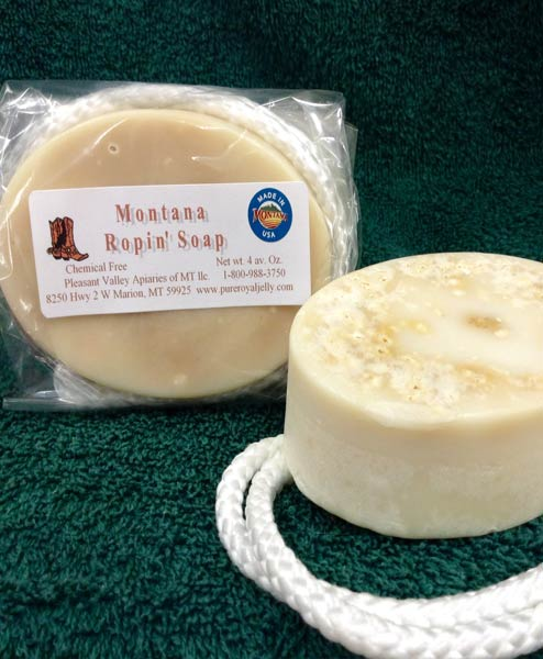 Natural Honey Bay Rum Soap on a Rope