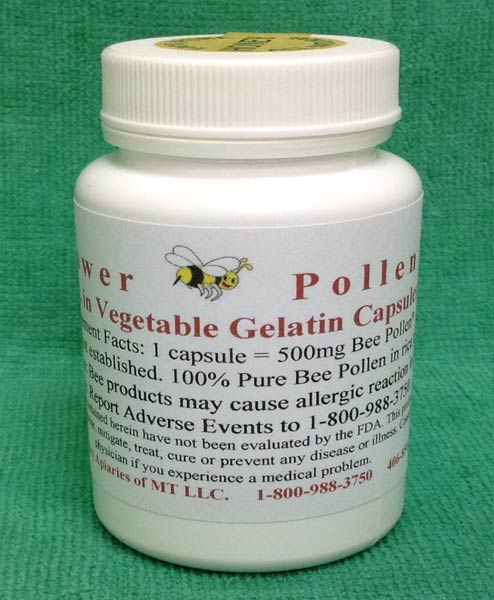 Bee Pollen Vegetable Gelatin Capsules